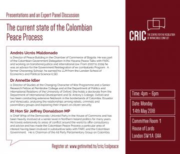 the current state of the colombian peace process  invite